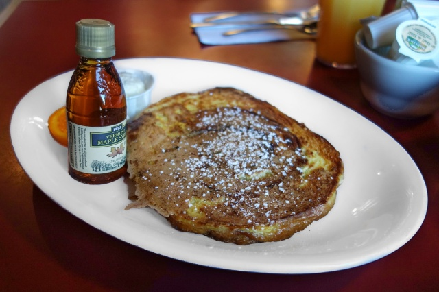 Cinnamon swirl french toast at Hole in One in Orleans, MA.