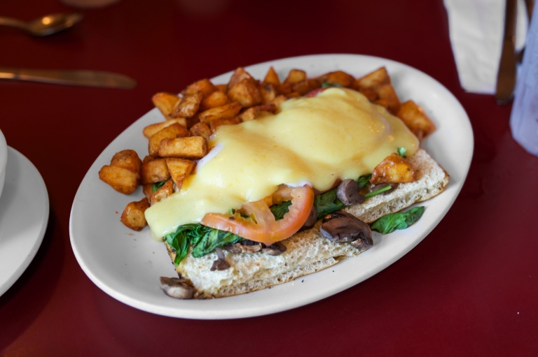 The garden Benedict at Hole in One in Orleans, MA.