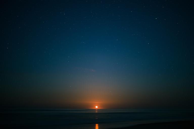 Moonrise over Nauset Beach.
