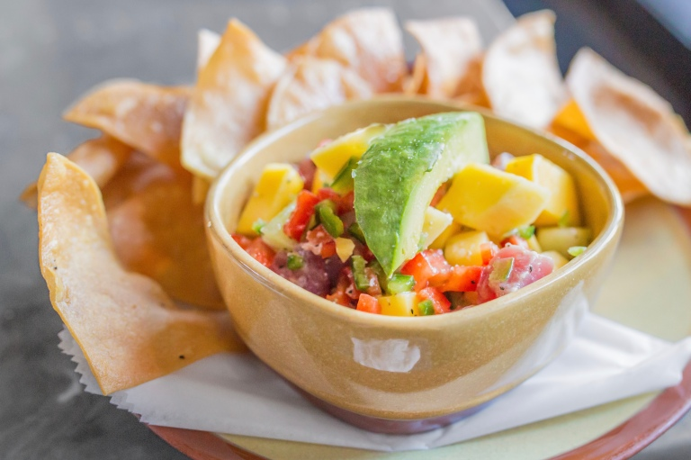 Lone Star Taco Bar's ceviche changes daily. This particularly preparation starred tuna, avocado, and mango.